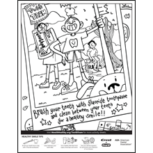 Good Oral Health Coloring Sheet